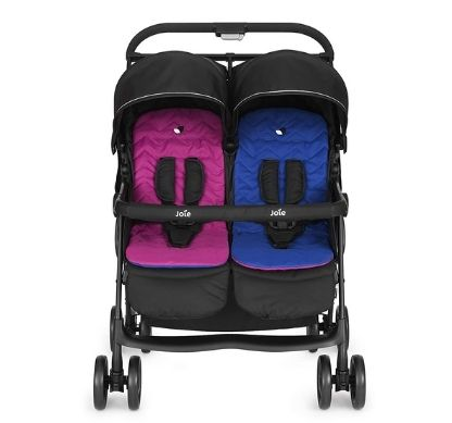 Joie Aire Twin Ultra Lightweight and One Hand-fold Stroller with Flat Reclining Seats