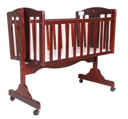 R for Rabbit Dream Time Baby Wooden Cradle